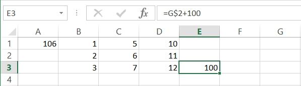 Adding a dollar sign $ to the cell reference stopped the automatic shifting of the row that would otherwise have occurred when copying and pasting our formula. In this example, shifting did occur by column. This is because there was not a $ placed in front of the D in the original formula's cell reference.